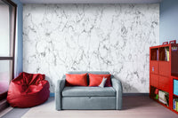 Digital Marble White and Gray - Stone Texture- Adhesive Wallpaper - Removable Wallpaper - Wall Sticker - Full Size Wall Mural  - PIPAFINEART