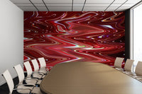 Cherry Bomb Waves - Adhesive Wallpaper - Removable Wallpaper - Wall Sticker - Full Size Wall Mural  - PIPAFINEART