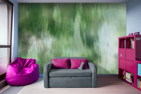 Green Fusion Illustration - Adhesive Wallpaper - Removable Wallpaper - Wall Sticker - Full Size Wall Mural
