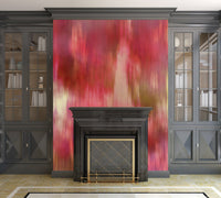 Red Fusion Illustration - Peel and Stick Removable Wallpaper Full Size Wall Mural  - PIPAFINEART