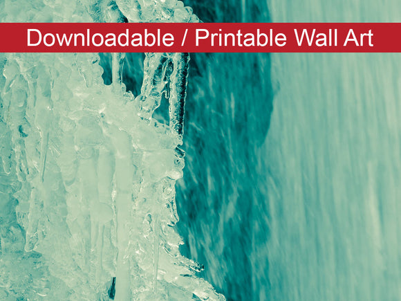 Digital Wall Art, Downloadable Prints, Nature Photograph Ice and Falls - Wall Decor Instant Download Print - Printable