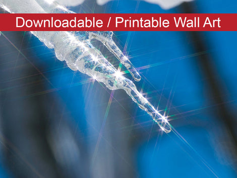 Icicle Nature Photo DIY Wall Decor Instant Download Print - Printable
