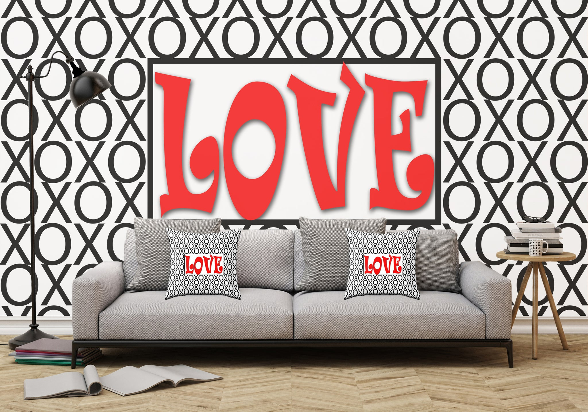 ... Love Xs and Os Pattern Adhesive Wallpaper - Removable Wallpaper - Wall  Sticker - Full Size ... 4ffabdcf5b49