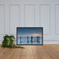 Cloudy Sunrise at Port Mahon Lighthouse Ruins Framed Photo Paper Wall Art Prints Black / 24×36 - PIPAFINEART