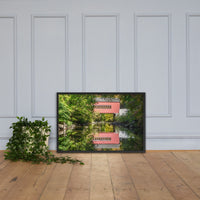 The Reflections of Wooddale Covered Bridge Framed Photo Paper Wall Art Prints Black / 24×36 - PIPAFINEART