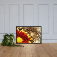 Floating Mum Floral Nature Photo Framed Wall Art Print Black / 24×36 - PIPAFINEART