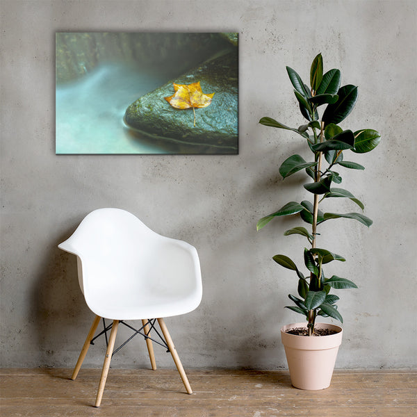 Misty Leaf Botanical Nature Canvas Wall Art Prints 24×36 - PIPAFINEART