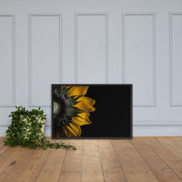 Backside of Sunflower Minimal Floral Nature Photo Framed Wall Art Print Black / 24×36 - PIPAFINEART