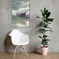 Foggy River Canvas Wall Art Prints Coastal / Beach / Shore / Seascape Landscape Scene 24×36