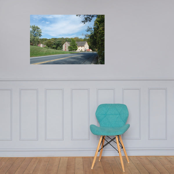 Greenbank Mill Summer Color Landscape Photo Loose Wall Art Prints 24×36 - PIPAFINEART