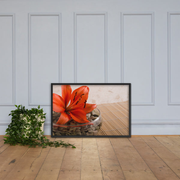Tranquil Lily Floral Nature Photo Framed Wall Art Print Black / 24×36 - PIPAFINEART