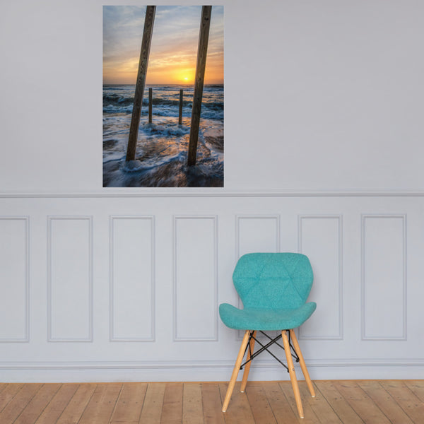 Sunrise Between the Pillars Landscape Photo Loose Wall Art Print 24×36 - PIPAFINEART