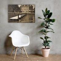 Delaware City Dock Canvas Wall Art Prints - Coastal / Beach / Shore / Seascape Landscape Scene 24×36