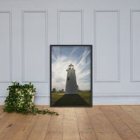 Turkey Point Lighthouse with Sun Flare Framed Photo Paper Wall Art Prints Black / 24×36 - PIPAFINEART