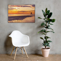 Cape Henlopen Sunset Coastal Landscape Canvas Wall Art Prints - Coastal / Beach / Shore / Seascape Landscape Scene 24×36