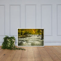 Waterfalls in the Autumn Foliage Landscape Framed Photo Paper Wall Art Prints White / 24×36 - PIPAFINEART