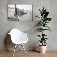 High Key Dunes Black and White Coastal Landscape Canvas Wall Art Prints 24×36 - PIPAFINEART