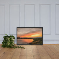 Sunset Over Woodland Marsh Framed Photo Paper Wall Art Prints Black / 24×36 - PIPAFINEART