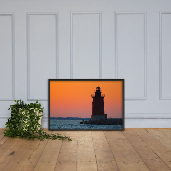Sunset at Henlopen State Park 3 Framed Photo Paper Wall Art Prints Black / 24×36 - PIPAFINEART