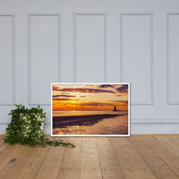 Cape Henlopen at Sunset Coastal Landscape Framed Photo Paper Wall Art Prints White / 24×36 - PIPAFINEART
