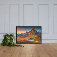 Majestic Sunset and Alpine Mountain Pass Framed Photo Paper Wall Art Prints Black / 24×36 - PIPAFINEART