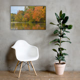 Autumn Tree Line Rural / Farmhouse / Country Style Landscape Scene Photo Canvas Wall Art Prints 24×36