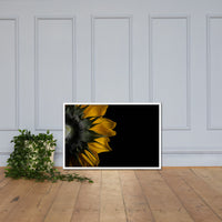 Backside of Sunflower Minimal Floral Nature Photo Framed Wall Art Print White / 24×36 - PIPAFINEART