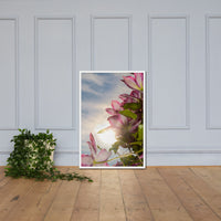 Towering Clematis Floral Nature Photo Framed Wall Art Print White / 24×36 - PIPAFINEART