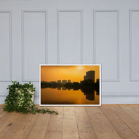 Wilmington at Sunrise Urban Landscape Framed Photo Paper Wall Art Prints White / 24×36 - PIPAFINEART