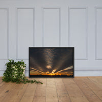 Sunset Indian River Inlet Coastal Landscape Framed Photo Paper Wall Art Prints Black / 24×36 - PIPAFINEART