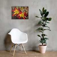 Royal Sunset Lily Floral Nature Canvas Wall Art Prints 18×24 - PIPAFINEART