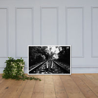 Lead Me Into The Light in Black and White Framed Photo Paper Rural / Farmhouse / Country Style Landscape Scene - Living Room Wall Art Print White / 24×36