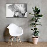 Bold Iris on White Black and White Floral Nature Canvas Wall Art Prints 24×36 - PIPAFINEART