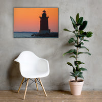 Sunset at Henlopen State Park 3 Coastal Landscape Canvas Wall Art Prints 24×36 - PIPAFINEART
