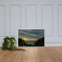 Cloudy Rainy Sunset De Soto Beach Framed Photo Paper Wall Art Prints White / 24×36 - PIPAFINEART