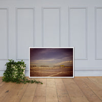 Aged View of Frisco Pier Coastal Framed Photo Paper Wall Art Prints White / 24×36 - PIPAFINEART