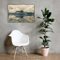 Autumn Reflections Split Tone Rural Landscape Canvas Wall Art Prints 24×36 - PIPAFINEART