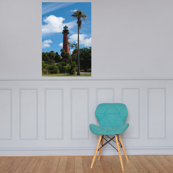 Jupiter Lighthouse Color Landscape Photo Loose Wall Art Print 24×36 - PIPAFINEART