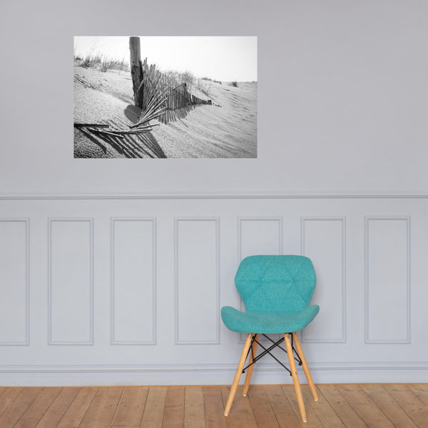High Key Dunes Black and White Landscape Photo Loose Wall Art Prints 24×36 - PIPAFINEART