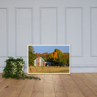 Patriotic Barn in Field Rural Landscape Framed Photo Paper Wall Art Prints White / 24×36 - PIPAFINEART