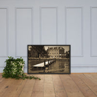 Delaware City Dock  Framed Photo Paper Wall Art Prints - Coastal / Beach / Shore / Seascape Landscape Scene Black / 24×36