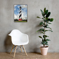 Cape Hatteras Lighthouse Coastal Landscape Canvas Wall Art Prints 18×24 - PIPAFINEART