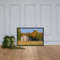 Patriotic Barn in Field Rural Landscape Framed Photo Paper Wall Art Prints Black / 24×36 - PIPAFINEART
