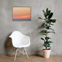 Abstract Color Blend Ocean Sunset Coastal Landscape Canvas Wall Art Print 18×24 - PIPAFINEART
