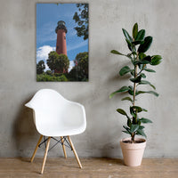 Jupiter Lighthouse 2 Color Coastal Landscape Canvas Wall Art Prints 24×36 - PIPAFINEART
