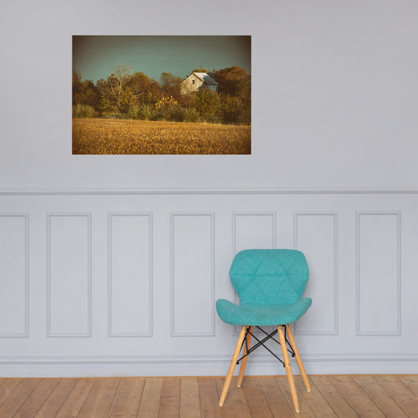 Abandoned Barn Colorized Loose Wall Art Prints 24×36 - PIPAFINEART