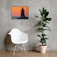Sunset at Henlopen State Park 3 Coastal Landscape Canvas Wall Art Prints 18×24 - PIPAFINEART
