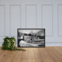 Winter at Powder Mill Rural Landscape Framed Photo Paper Wall Art Prints
