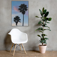 Palm Tree Silhouettes on Blue Sky Botanical Nature Canvas Wall Art Prints 24×36 - PIPAFINEART