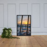Sunrise Between the Pillars Coastal Landscape Framed Photo Paper Wall Art Prints Black / 24×36 - PIPAFINEART